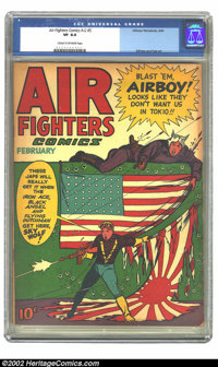 Air Fighters Comics Vol. 2 #5 (Hillman Fall, 1944) CGC VF 8.0 Cream to off-white pages. Flag cover. Overstreet 2002 VF 8...