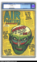 Golden Age (1938-1955):Adventure, Air Fighters Comics Vol. 2 #8 (Hillman Fall, 1944) CGC VF 8.0 Cream to off-white pages. Overstreet 2002 VF 8.0 value = $398....