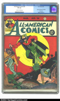 Golden Age (1938-1955):Superhero, All-American Comics #24 (DC, 1941) CGC VF 8.0 Off-white to white pages. This Issue contains the origin of Dr. Midnight. Over...