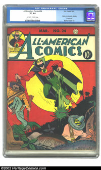 All-American Comics #24 (DC, 1941) CGC VF 8.0 Off-white to white pages. This Issue contains the origin of Dr. Midnight...