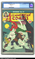Golden Age (1938-1955):Superhero, All-American Comics #54 (DC, 1943) CGC VF/NM 9.0 White pages. Overstreet 2002 NM 9.4 value = $975....