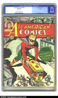 "All-American Comics #55 ""D"" Copy pedigree (DC, 1944)CGC VF 8.0 Off-white to white pages. Overstreet 2002 VF 8..."
