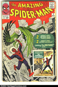 The Amazing Spider-Man #2 (Marvel, 1963) Condition: GD. First appearance of the Vulture, and the Terrible Tinkerer. Some...