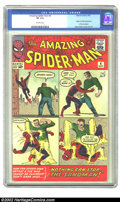 Silver Age (1956-1969):Superhero, The Amazing Spider-Man #4 (Marvel, 1963) CGC VF 8.0 Off-whitepages. Origin and first appearance of the Sandman; Steve Ditko...
