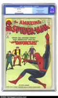 Silver Age (1956-1969):Superhero, The Amazing Spider-Man #10 (Marvel, 1964) CGC VF 8.0 Off-white pages. This issue contains the first appearance of Big Man an...