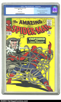 The Amazing Spider-Man #25 (Marvel, 1965) CGC VF+ 8.5 Off-white pages. First appearance of Mary Jane Watson; Steve Ditko...