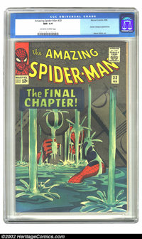 The Amazing Spider-Man #33 (Marvel, 1966) CGC NM 9.4 Off-white to white pages. This issue features an appearance by Doct...