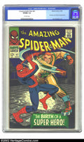 Silver Age (1956-1969):Superhero, The Amazing Spider-Man #42 (Marvel, 1966) CGC VF/NM 9.0 Off-white pages. This issue contains the first full appearance of Ma...