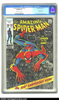 Bronze Age (1970-1979):Superhero, The Amazing Spider-Man #100 (Marvel, 1971) CGC VF/NM 9.0 Off-white to white pages. Anniversary issue; John Romita, Sr. & Gil...