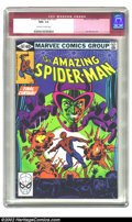 Modern Age (1980-Present):Superhero, The Amazing Spider-Man #207 (Marvel, 1980) CGC NM+ 9.6 Off-white to white pages. Overstreet 2002 NM 9.4 value = $10....