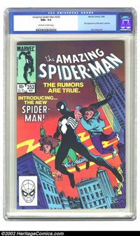 The Amazing Spider-Man #252 (Marvel, 1984) CGC NM+ 9.6 Off-white to white pages. This issue features the first appearanc...