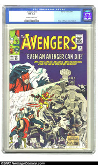 The Avengers #14 (Marvel, 1965) CGC NM 9.4 Off-white to white pages. Overstreet 2002 NM 9.4 value = $160