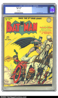 Batman #24 (DC, 1944) CGC FN+ 6.5 White pages. Jerry Robinson art. Overstreet 2002 FN 6.0 value = $450