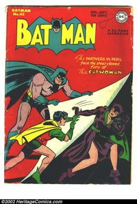 Batman #42 (DC, 1947) Condition = G/VG. 2nd Catwoman cover