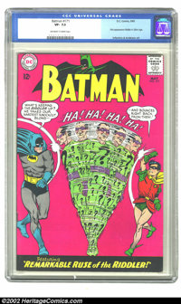 Batman #171 (DC) CGC VF- 7.5 Off-white to white pages. This issue contains the first appearance of the Riddler in the Si...