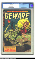 Golden Age (1938-1955):Horror, Beware #10 (Trojan/Prime, 1954) CGC GD/VG 3.0 Off-white to whitepages. Overstreet 2002 GD 2.0 value = $59; FN 6.0 value = $...