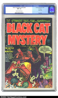 Black Cat Mystery #36 File Copy (Harvey, 1952)CGC NM- 9.2 Cream to off-white pages. This book was used in Seduction of t...