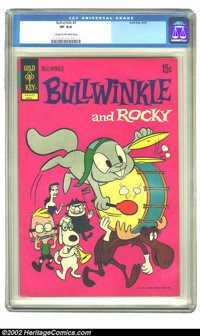 Bullwinkle #3 (Gold Key, 1972) CGC VF 8.0 Cream to off-white pages. Overstreet 2002 VF 8.0 value = $34