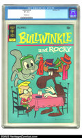 Bronze Age (1970-1979):Cartoon Character, Bullwinkle #4 (Gold Key, 1972) CGC VF+ 8.5 Off-white pages.Overstreet 2002 VF 8.0 value = $34....