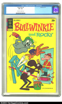 Bullwinkle #8 (Gold Key, 1973) CGC VF+ 8.5 Off-white to white pages. Overstreet 2002 VF 8.0 value = $34