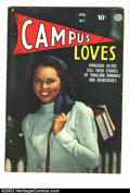 Golden Age (1938-1955):Romance, Campus Loves #3 (Quality, 1950) Condition = FN. ...
