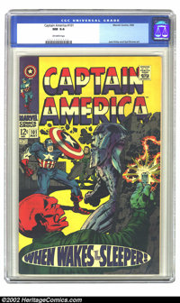 Captain America #101 (Marvel, 1968) CGC NM 9.4 Off-white pages. Jack Kirby and Syd Shores art. Overstreet 2002 NM 9.4 va...