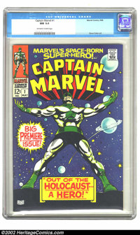 Captain Marvel #1 (Marvel, 1968) CGC NM 9.4 Off-white to white pages. Gene Colan art. Overstreet 2002 NM 9.4 value = $12...