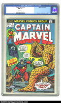 Bronze Age (1970-1979):Superhero, Captain Marvel #26 (Marvel, 1973) CGC NM 9.4 Off-white pages. Jim Starlin and Dave Cockrum art. Overstreet 2002 NM 9.4 value...