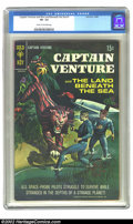 Silver Age (1956-1969):Science Fiction, Captain Venture #1 (Gold Key, 1968) CGC VF- 7.5 Cream to off-white pages. Overstreet 2002 VF 8.0 value = $30. ...