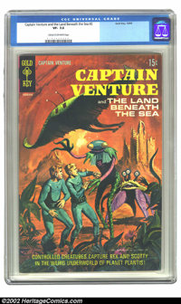 Captain Venture #2 (Gold Key, 1969) CGC VF- 7.5 Cream to off-white pages. Overstreet 2002 VF 8.0 value = $29