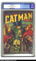 Golden Age (1938-1955):Superhero, Catman Comics #28 (Holyoke Publications, 1945) CGC VG 4.0 Cream to off-white pages. Moderate amount of crayon on cover and i...