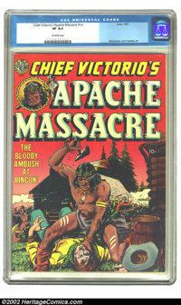 Chief Victorio's Apache Massacre nn (Avon, 1951) CGC VF 8.0 Off-white pages. Overstreet 2002 VF 8.0 value = $257