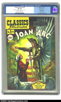 Classics Illustrated #78 Double cover (Gilberton, 1950) CGC FN- 5.5 Off-white to white pages. The cover and art are cour...