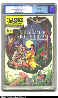 Classics Illustrated #87 (Gilberton, 1951) CGC FN 6.0 Cream to off-white pages. A version of A Midsummer Night's Dream b...