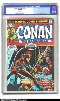 Conan The Barbarian #23 (Marvel, 1973) CGC NM 9.4 Off-white pages. Overstreet 2002 NM 9.4 value=$40