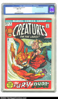 Bronze Age (1970-1979):Horror, Creatures on the Loose #18 (Marvel, 1972) CGC NM+ 9.6 Off-whitepages. Gil Kane cover, Ross Andru art. Overstreet 2002 NM 9....