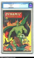 Dynamic Comics #18 (Chesler, 1946) CGC VF 8.0 Off-white pages. Overstreet 2002 VF 8.0 value = $217