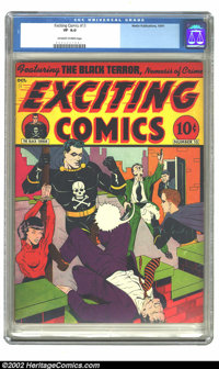 Exciting Comics #13 (Nedor Publications, 1941) CGC VF 8.0 Off-white to white pages. Overstreet 2002 VF 8.0 value = $568...