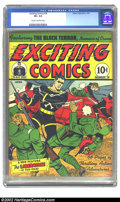 Golden Age (1938-1955):Superhero, Exciting Comics #18 (Nedor Publications, 1942) CGC VF+ 8.5 Cream to off white pages. Overstreet 2002 VF 8.0 value = $330. ...