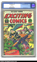 Golden Age (1938-1955):Superhero, Exciting Comics #36 (Nedor Publications, 1944) CGC VF- 7.5 Off-white to white pages. Alex Schomburg cover. Overstreet 2002 V...