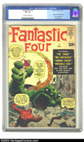 Silver Age (1956-1969):Superhero, Fantastic Four #1 (Marvel, 1961) CGC VF- 7.5 Off-white to white pages. Jack Kirby had been doing monster covers for most of ...