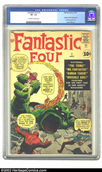 Fantastic Four #1 (Marvel, 1961) CGC VF- 7.5 Off-white to white pages. Jack Kirby had been doing monster covers for most...