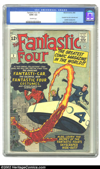Fantastic Four #3 (Marvel, 1962) CGC G/VG 3.0 Off-white pages . In this issue the Fantastic Four don costumes for the fi...