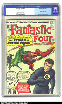 Fantastic Four #10 (Marvel, 1963) CGC FN- 5.5 Off-white to white pages. This issue features an appearance by Stan Lee an...