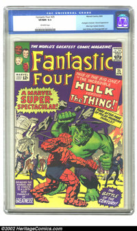 Fantastic Four #25 (Marvel, 1964) CGC VF/NM 9.0 Off-white pages. Avengers crossover; Second appearance Silver Age Captai...