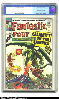 Fantastic Four #35 (Marvel) CGC NM- 9.2 Cream to off-white pages. This issue features the first appearance of Dragon Man...