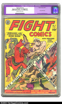 Fight Comics #2 (Fiction House, 1940) CGC Apparent FN/VF 7.0 Slight (P) Off-white to white pages. Lou Fine and Will Eisn...
