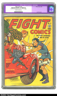 Fight Comics #4 (Fiction House, 1940) CGC Apparent VG/FN 5.0 Slight (A) Cream to off-white pages. Lou Fine cover. Overst...