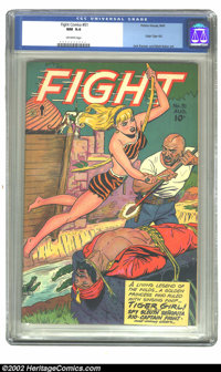 Fight Comics #51 (Fiction House, 1947) CGC NM 9.4 Off-white pages. Origin Tiger Girl; Jack Kamen and Matt Baker art. Ove...