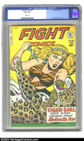 Golden Age (1938-1955):Adventure, Fight Comics #63 (Fiction House, 1949) CGC VF- 7.5 White pages. Overstreet 2002 VF 8.0 value=$116....